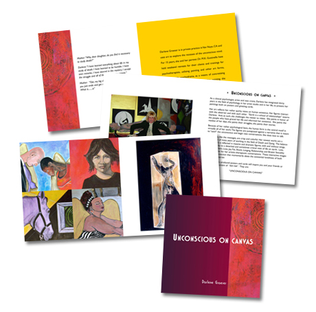 """Unconscious on Canvas"" promo booklet"
